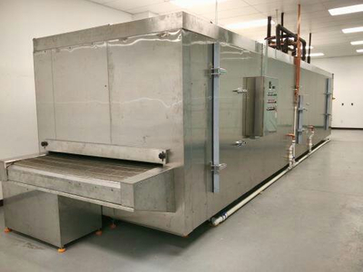 Tunnel Freezer 150kg/h with Stainless Steel Belt, Suitable for food factory